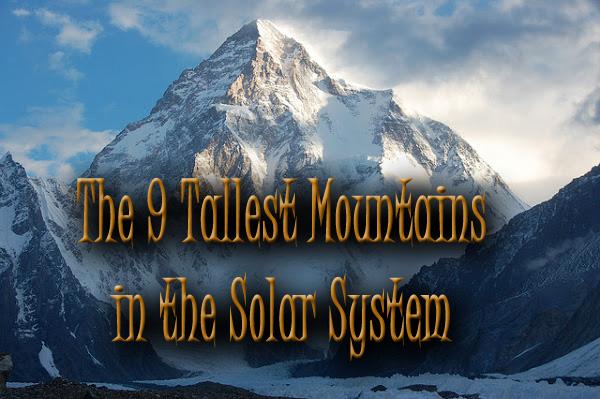 The 9 Tallest Mountains In The Solar System | Irene W. Pennington  Planetarium