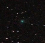 Come Lovejoy as seen through binoculars.